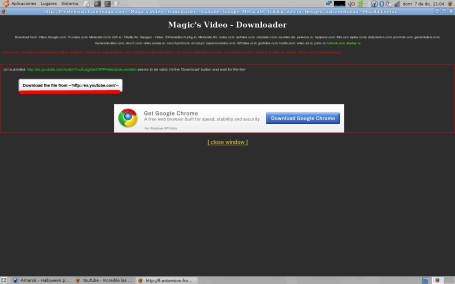 descargar con magic's video downloader