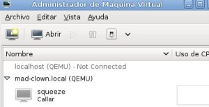 Abrir máquina Virt Manager