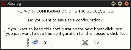 Confirmar configuración